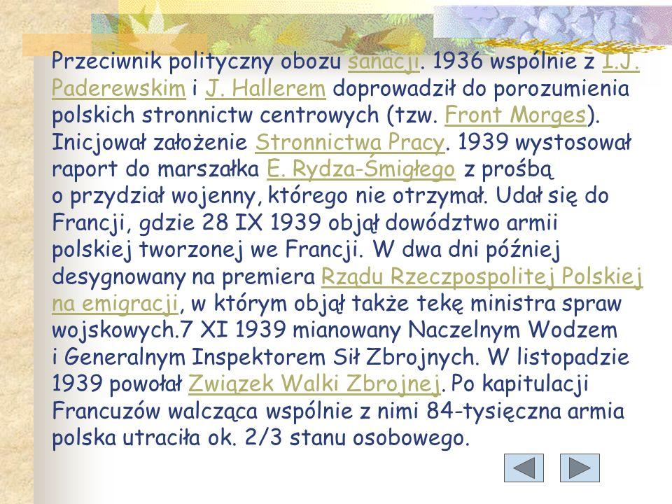 Przeciwnik polityczny obozu sanacji.1936 wspólnie z I.J.