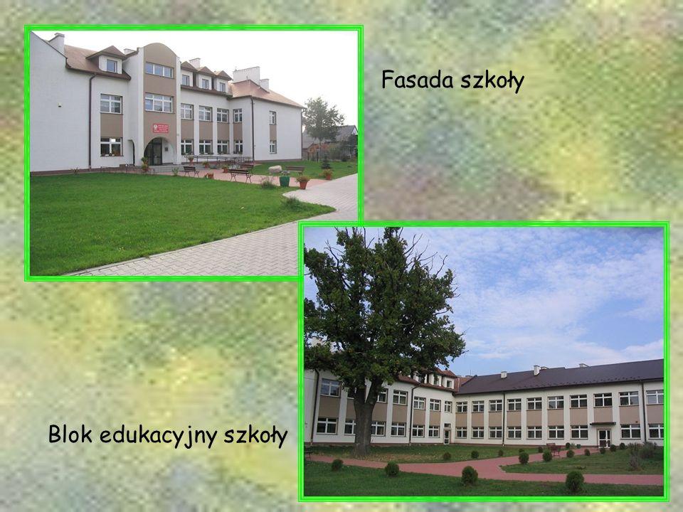 Blok edukacyjny szkoły Fasada szkoły