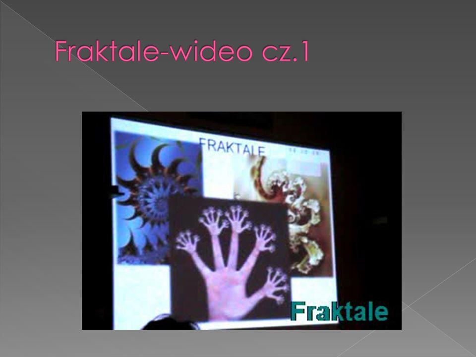 Na początku wysłuchaliśmy krótkiego wykładu o fraktalach.