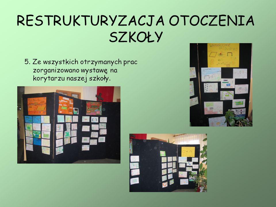 5. Ze wszystkich otrzymanych prac zorganizowano wystawę na korytarzu naszej szkoły.