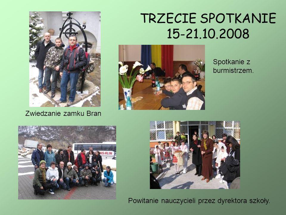 TRZECIE SPOTKANIE 15-21.10.2008 Spotkanie z burmistrzem.
