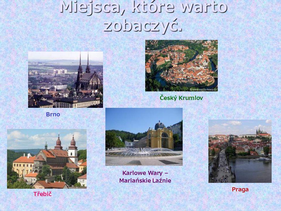 Miejsca, które warto zobaczyć. Brno Praga Český Krumlov Karlowe Wary – Mariańskie Laźnie Třebič