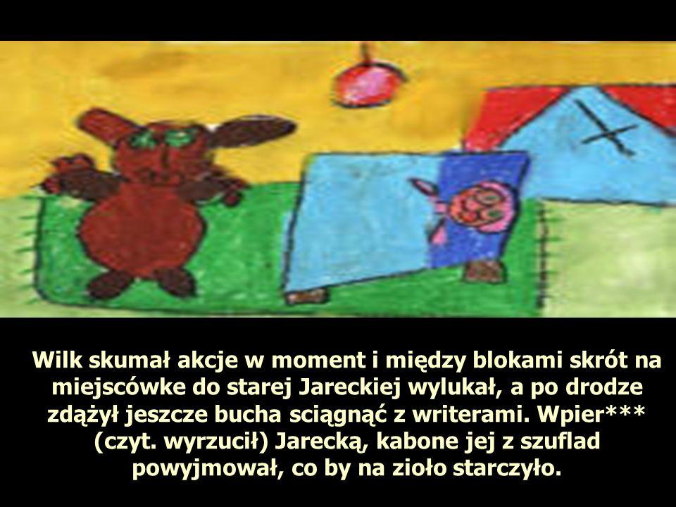 Wilk skumał akcje w moment i między blokami skrót na miejscówke do starej Jareckiej wylukał, a po drodze zdążył jeszcze bucha sciągnąć z writerami. Wp