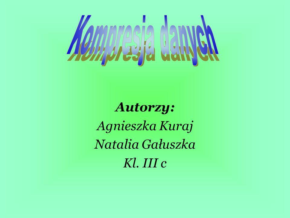 Autorzy: Agnieszka Kuraj Natalia Gałuszka Kl. III c