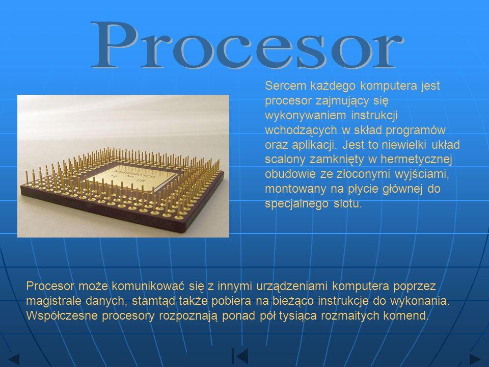 Sercem każdego komputera jest procesor zajmujący się wykonywaniem instrukcji wchodzących w skład programów oraz aplikacji. Jest to niewielki układ sca