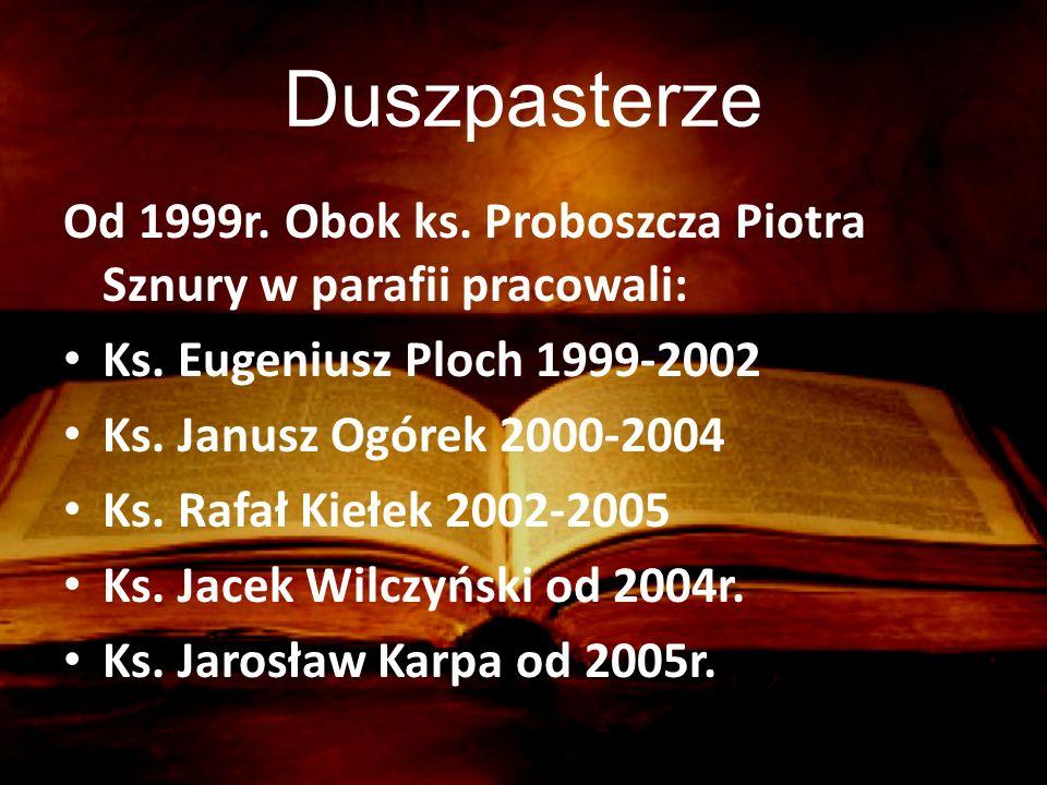 Duszpasterze Od 1999r.Obok ks. Proboszcza Piotra Sznury w parafii pracowali: Ks.