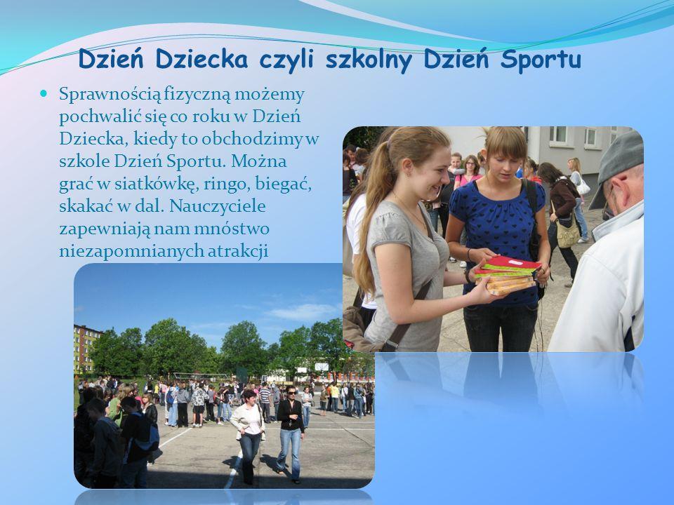 Dzień Dziecka czyli szkolny Dzień Sportu Sprawnością fizyczną możemy pochwalić się co roku w Dzień Dziecka, kiedy to obchodzimy w szkole Dzień Sportu.