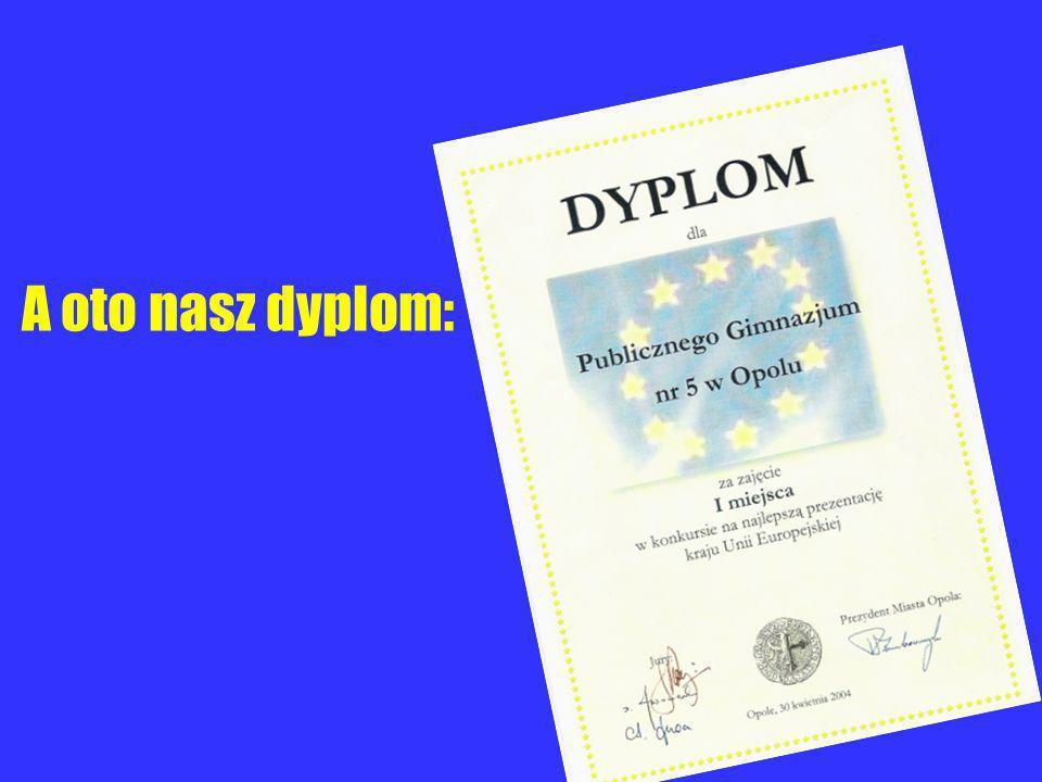 A oto nasz dyplom: