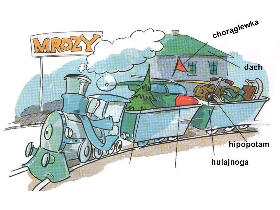 chorągiewka dach hipopotam hulajnoga