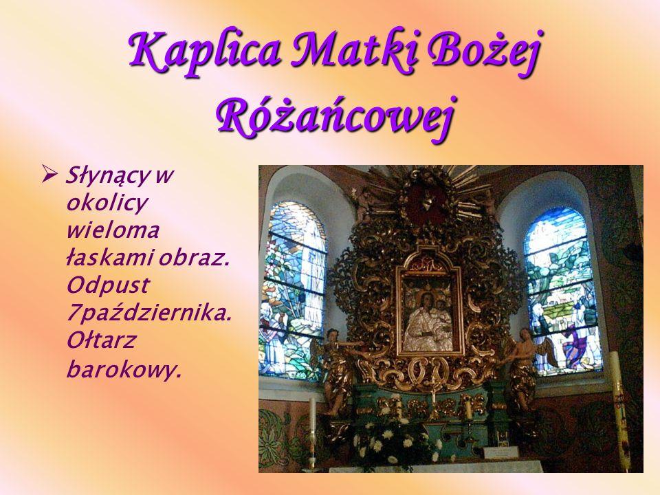 Kaplica św. Walentego Kaplica Wieczystej Adoracji Najświętszego Sakramentu. Wielka duma parafii.