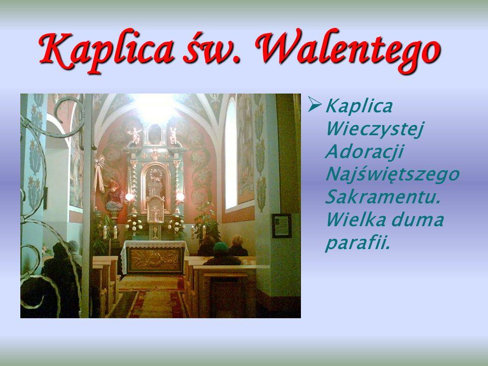 Figura św. Franciszka. Prezbiterium. Największy skarb kościoła: Pieta mająca ok.200lat.
