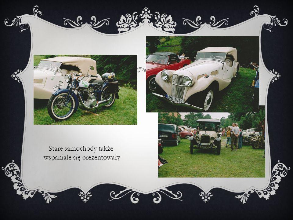 Stare samochody także wspaniale się prezentowały