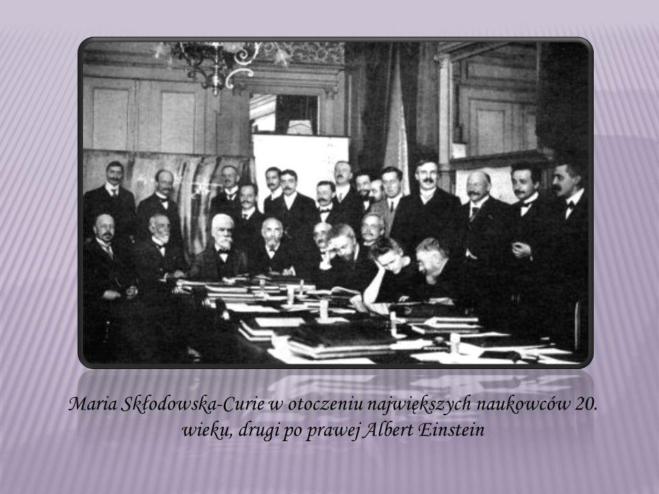 Maria Skłodowska-Curie w otoczeniu największych naukowców 20.
