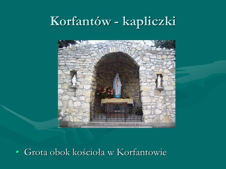 Kapliczka w Myszowicach Kapliczka znajduje się przy wjeździe do wioski od strony Wielkich ŁąkKapliczka znajduje się przy wjeździe do wioski od strony