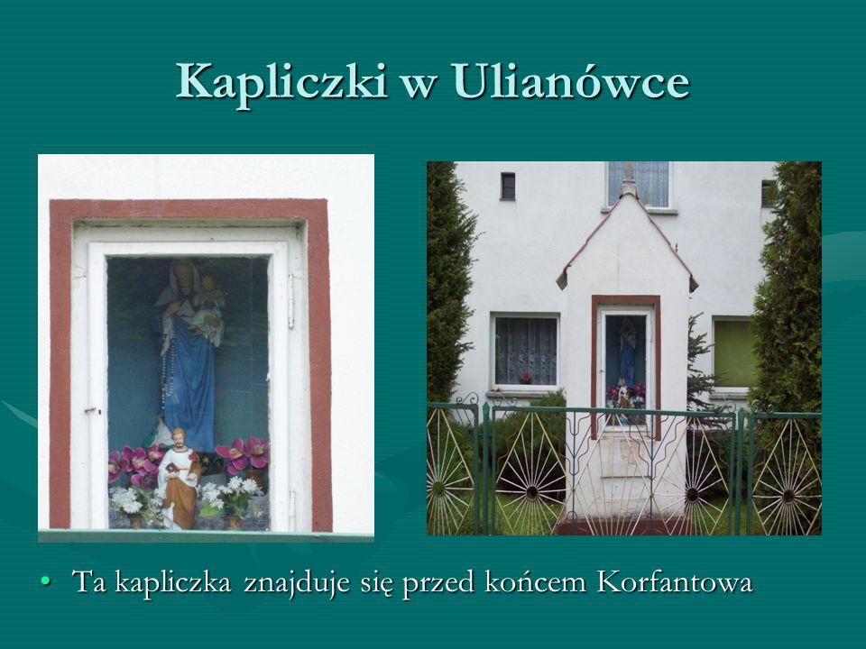 Kapliczki w Ulianówce Krzyż znajdujący się w drodze do Niemodlina
