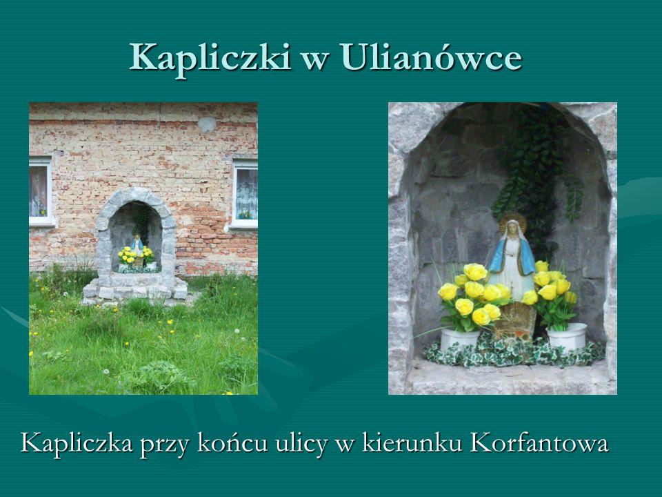 Kapliczki w Ulianówce Kapliczka znajdująca się w centrum UlianówkiKapliczka znajdująca się w centrum Ulianówki