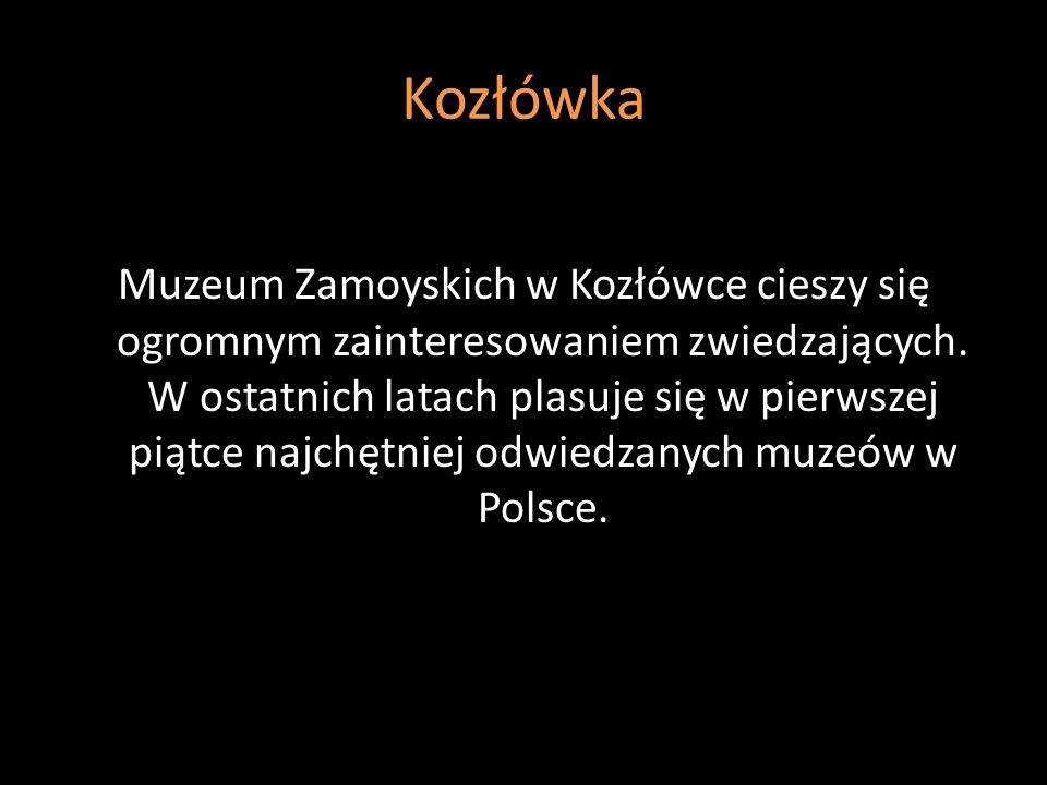 Kozłówka Muzeum Zamoyskich w Kozłówce cieszy się ogromnym zainteresowaniem zwiedzających. W ostatnich latach plasuje się w pierwszej piątce najchętnie