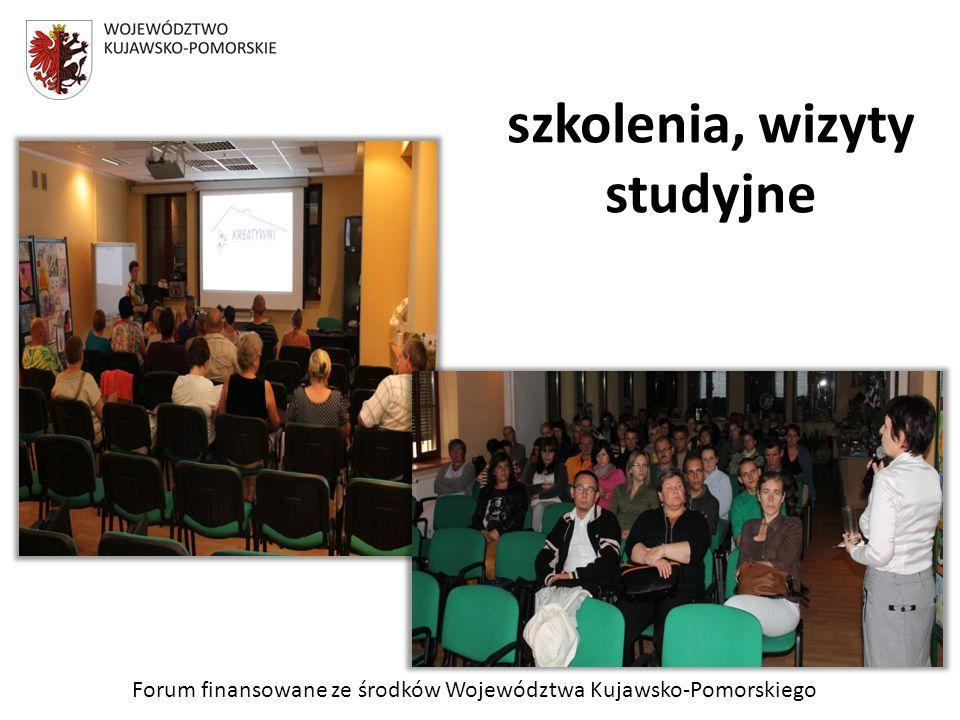 Forum finansowane ze środków Województwa Kujawsko-Pomorskiego szkolenia, wizyty studyjne