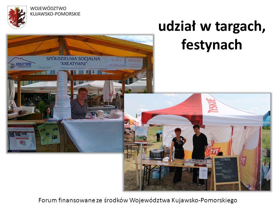 Forum finansowane ze środków Województwa Kujawsko-Pomorskiego udział w targach, festynach