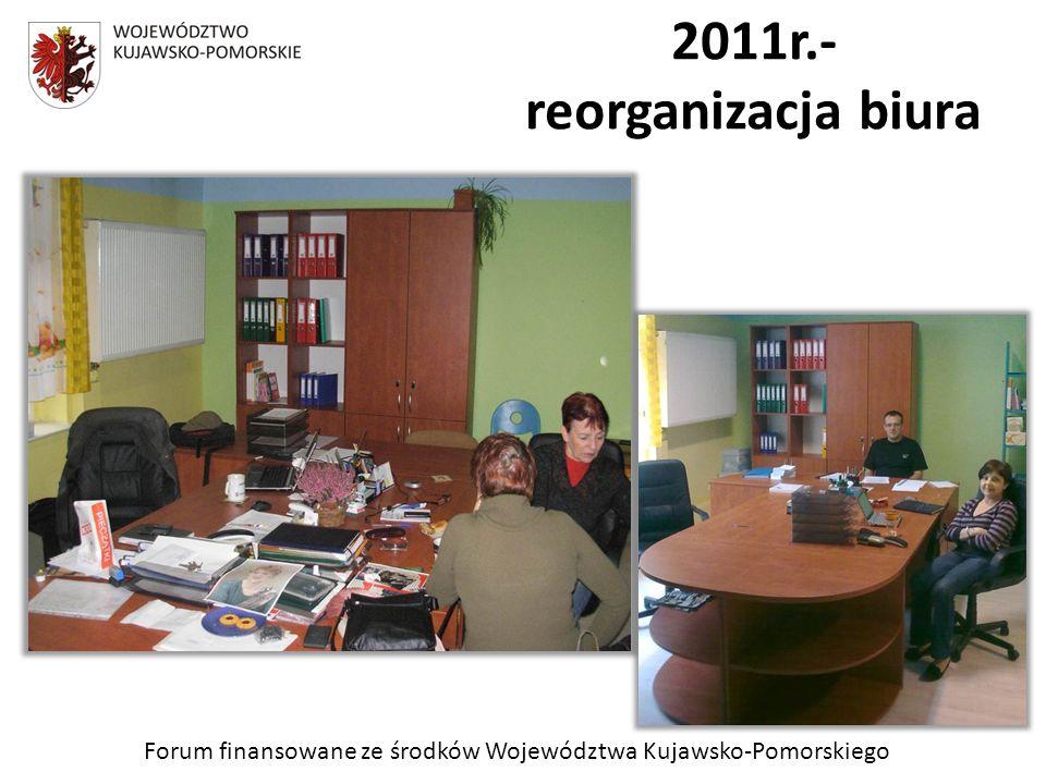 Forum finansowane ze środków Województwa Kujawsko-Pomorskiego 2011r.- reorganizacja biura