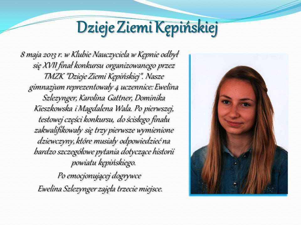 Dzieje Ziemi Kępińskiej 8 maja 2013 r. w Klubie Nauczyciela w Kępnie odbył się XVII finał konkursu organizowanego przez TMZK