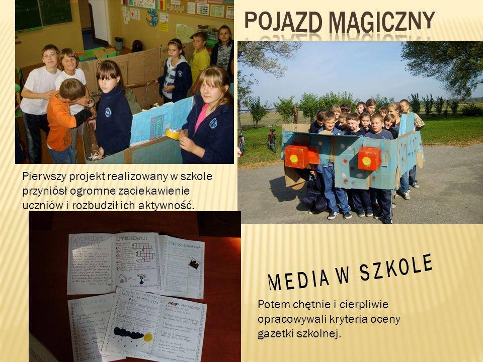 Pierwszy projekt realizowany w szkole przyniósł ogromne zaciekawienie uczniów i rozbudził ich aktywność. Potem chętnie i cierpliwie opracowywali kryte