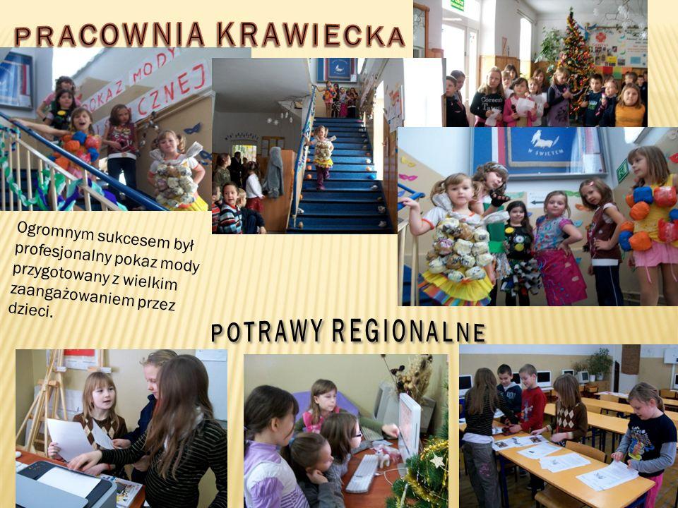 Ogromnym sukcesem był profesjonalny pokaz mody przygotowany z wielkim zaangażowaniem przez dzieci.