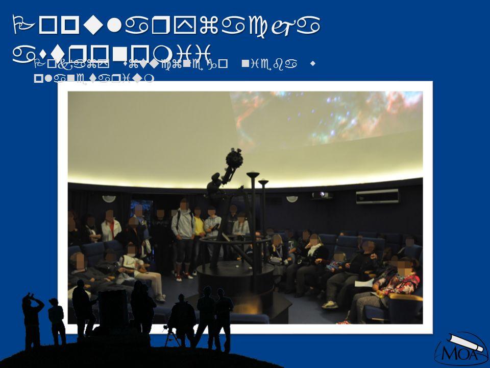 Popularyzacja astronomii Pokazy sztucznego nieba w planetarium