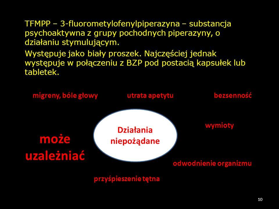 TFMPP – 3-fluorometylofenylpiperazyna – substancja psychoaktywna z grupy pochodnych piperazyny, o działaniu stymulującym. Występuje jako biały proszek
