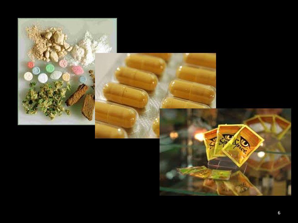 naturalne – ziołowe Substancje syntetyczne – party pills Stymulanty Relaksanty Psychodeliczne Halucynogeny 7