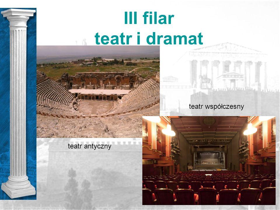 III filar teatr i dramat teatr współczesny teatr antyczny