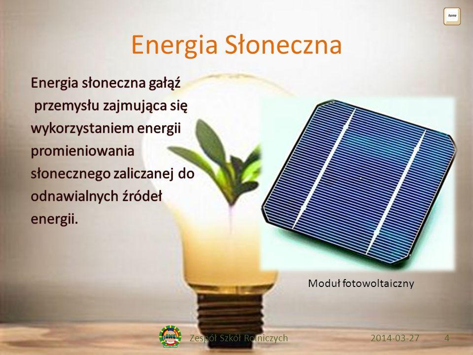 Zespół Szkół Rolniczych2014-03-274 Energia Słoneczna Moduł fotowoltaiczny
