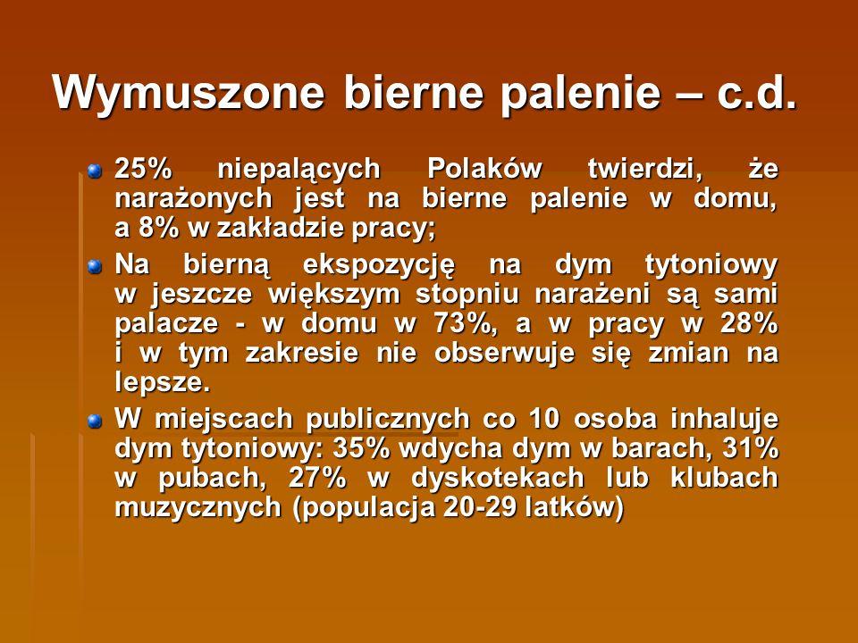 Diagnoza problemu palenia tytoniu wśród dzieci i młodzieży W Polsce codziennie zaczyna palić pół tysiąca dzieci, a rocznie palenia próbuje około 180 tys.