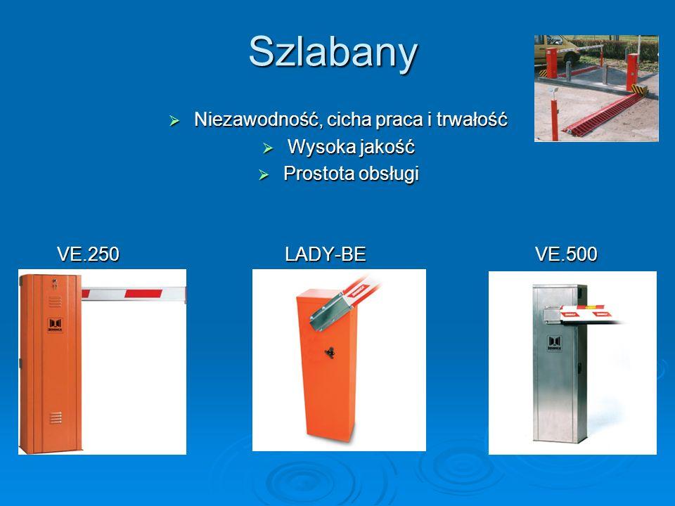 Szlabany Niezawodność, cicha praca i trwałość Niezawodność, cicha praca i trwałość Wysoka jakość Wysoka jakość Prostota obsługi Prostota obsługi VE.25