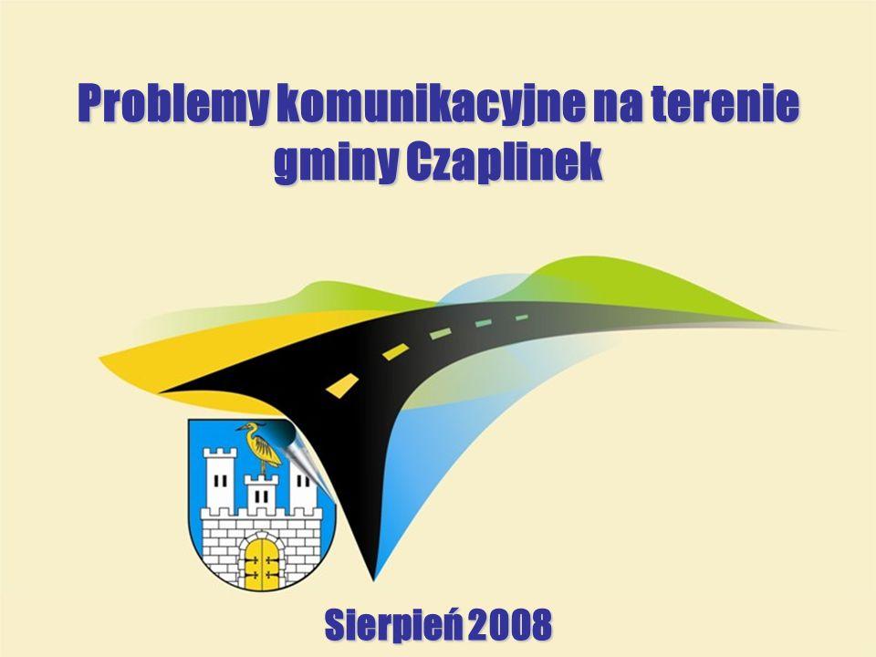 Problemy komunikacyjne na terenie gminy Czaplinek Sierpień 2008