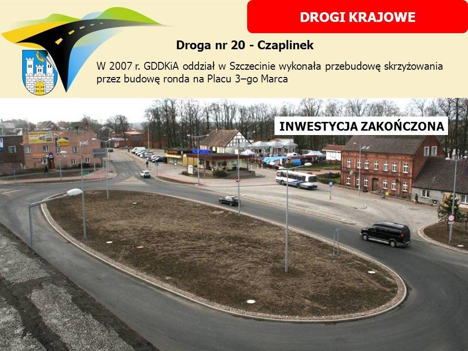 W 2008 r.GDDKiA wykonała remont odcinka chodnika na ul.