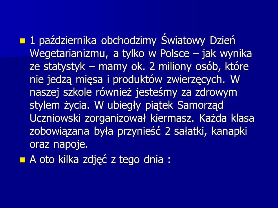 1 października obchodzimy Światowy Dzień Wegetarianizmu, a tylko w Polsce – jak wynika ze statystyk – mamy ok. 2 miliony osób, które nie jedzą mięsa i