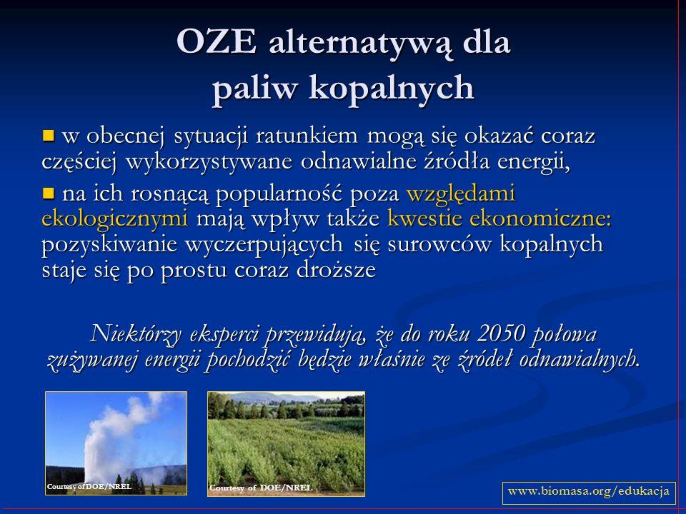 OZE alternatywą dla paliw kopalnych w obecnej sytuacji ratunkiem mogą się okazać coraz częściej wykorzystywane odnawialne źródła energii, w obecnej sy