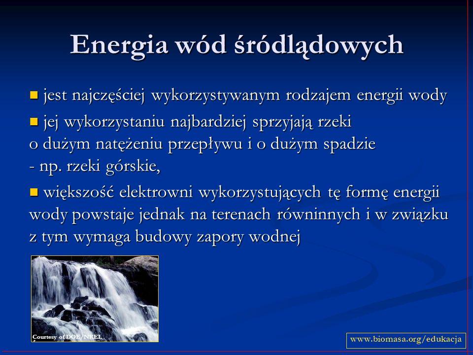 Energia wód śródlądowych jest najczęściej wykorzystywanym rodzajem energii wody jest najczęściej wykorzystywanym rodzajem energii wody jej wykorzystan