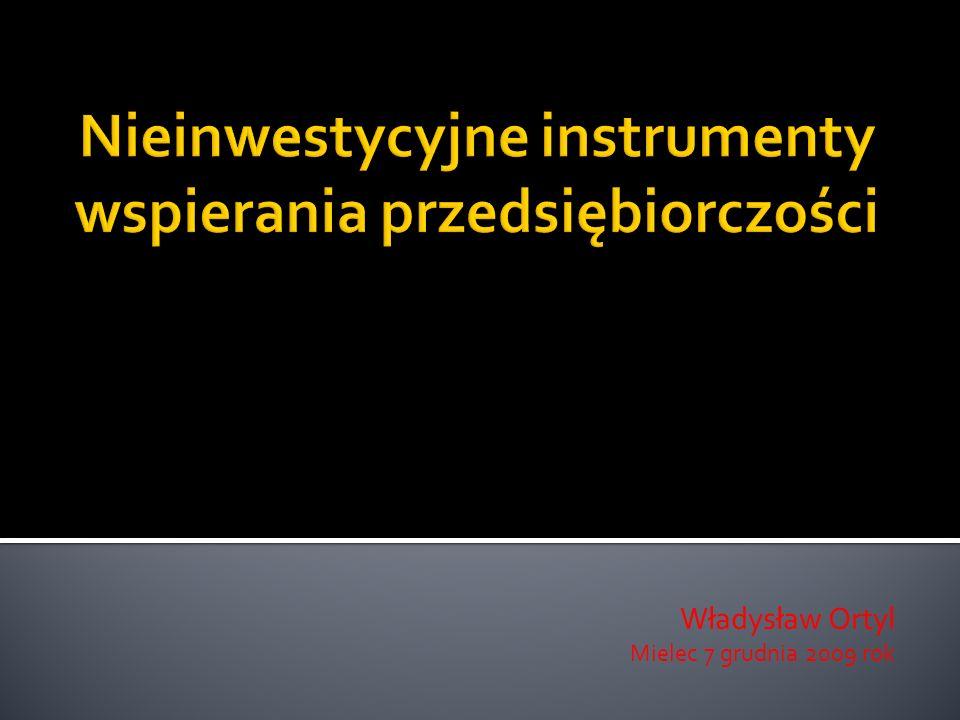 informacje wprowadzające, czy tylko nieinwestycyjne instrumenty .