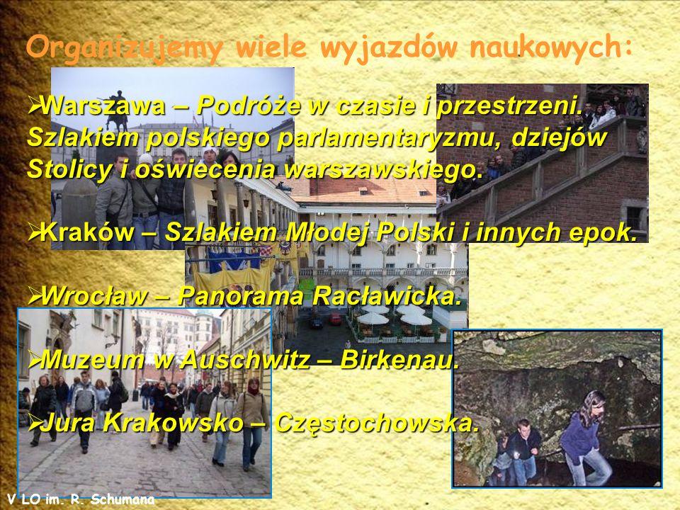 Organizujemy wiele wyjazdów naukowych: Warszawa – Podróże w czasie i przestrzeni.