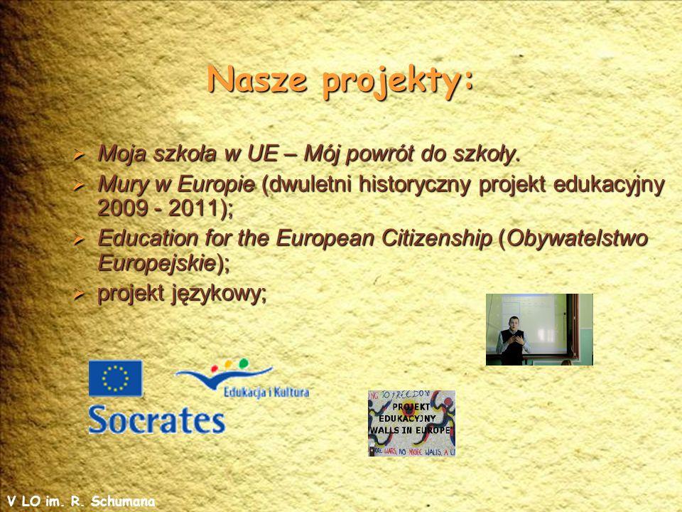 Nasze projekty: Moja szkoła w UE – Mój powrót do szkoły.