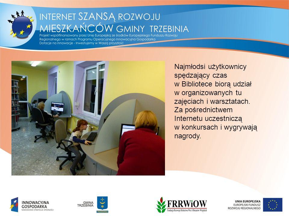 Najmłodsi użytkownicy spędzający czas w Bibliotece biorą udział w organizowanych tu zajęciach i warsztatach.