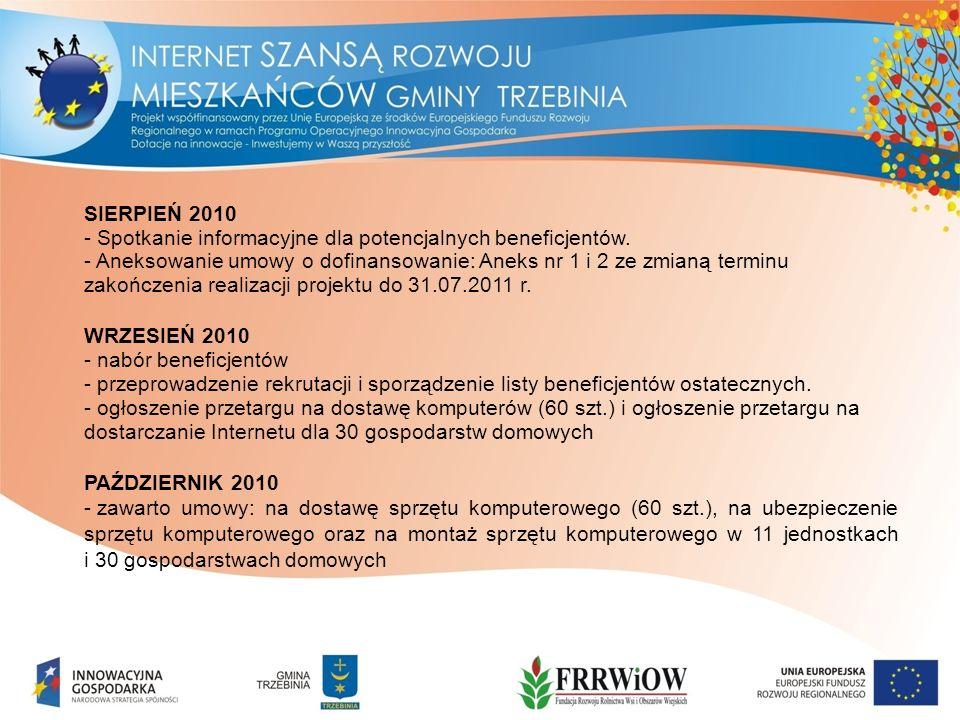 SIERPIEŃ 2010 - Spotkanie informacyjne dla potencjalnych beneficjentów.