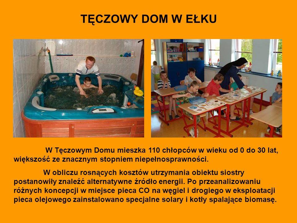 TĘCZOWY DOM W EŁKU W Tęczowym Domu mieszka 110 chłopców w wieku od 0 do 30 lat, większość ze znacznym stopniem niepełnosprawności.