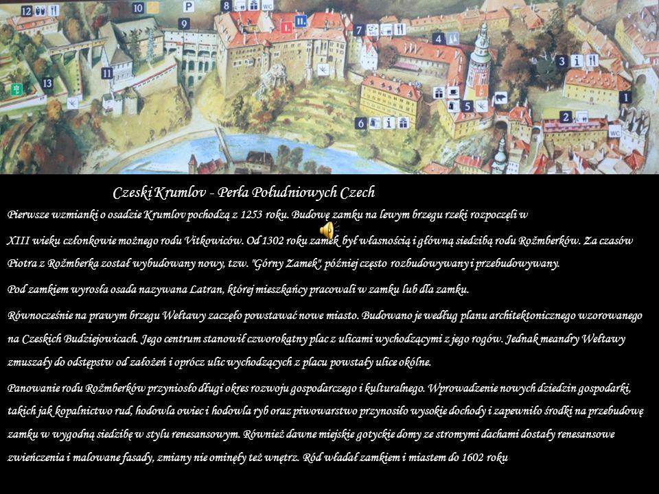 Pierwsze wzmianki o osadzie Krumlov pochodzą z 1253 roku.