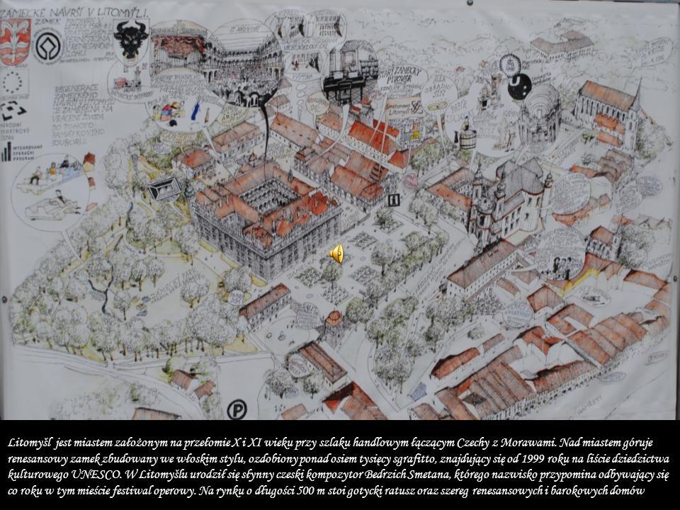 Litomyšl jest miastem założonym na przełomie X i XI wieku przy szlaku handlowym łączącym Czechy z Morawami.