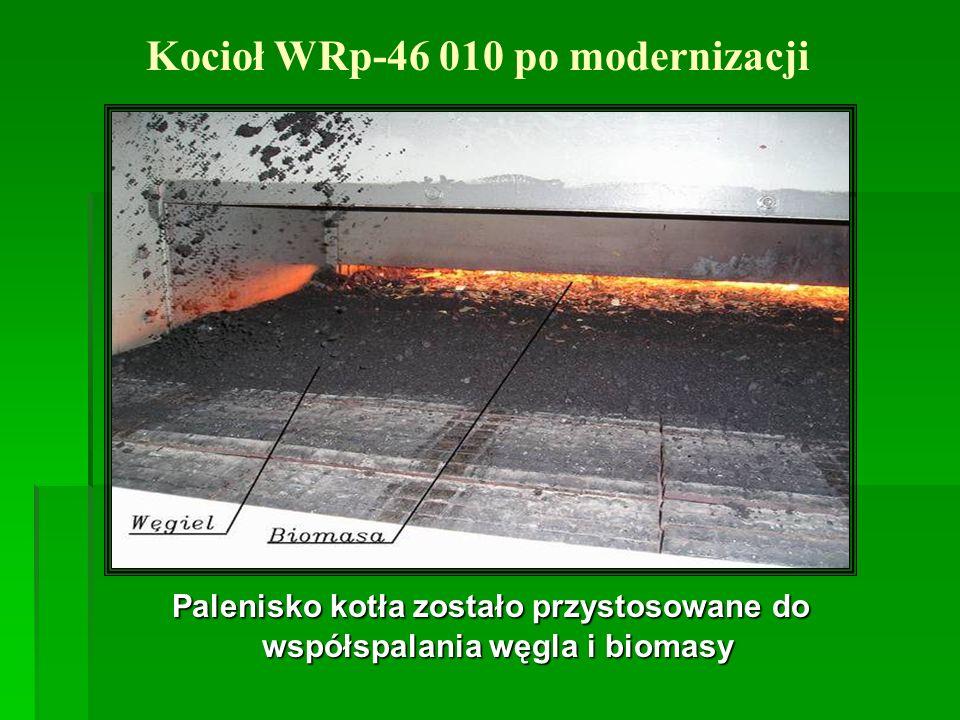 Palenisko kotła zostało przystosowane do współspalania węgla i biomasy Palenisko kotła zostało przystosowane do współspalania węgla i biomasy Kocioł W