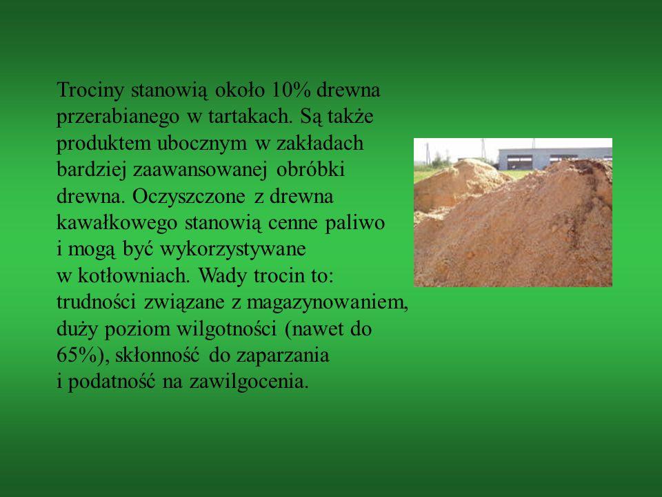 Paliwo uszlachetnione, takie jak brykiet uzyskuje się poprzez suszenie, mielenie i prasowanie biomasy.