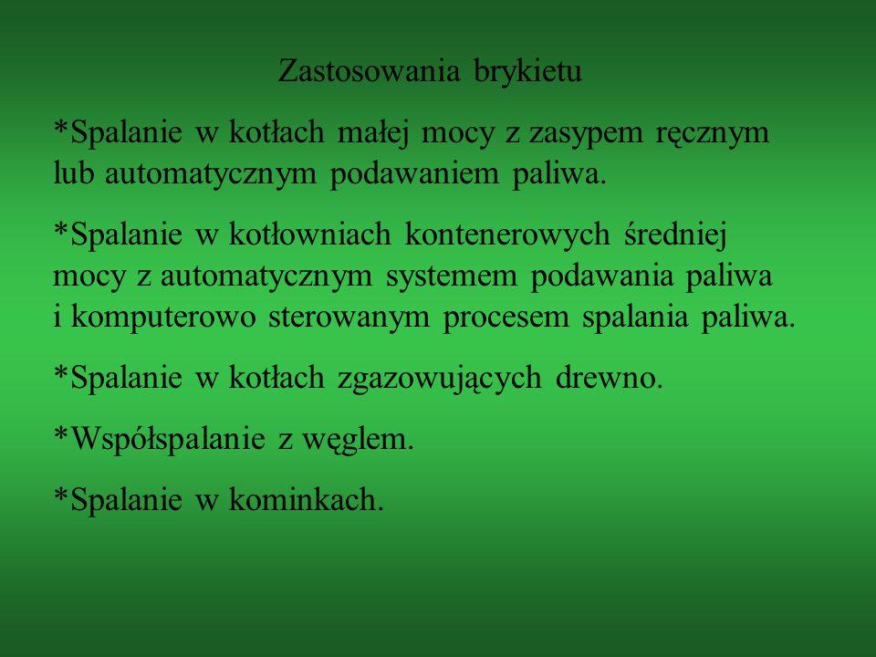 Zakład produkujący ekologiczny brykiet opałowy: P.P.H.U. KOLEKO Kolbuszowa Górna 153